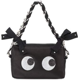 Black Silk Glitter Eyes Clutch Bag Anya Hindmarch Footlocker Finishline Online Cheap Visa Payment Wb8Pz1h