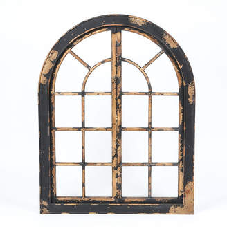 Luxen Home Wood Arched Window Wall Decor