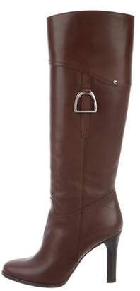 Ralph Lauren Leather Knee-High Boots