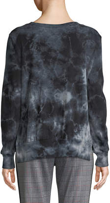 Pam & Gela Tea-Stained Tie-Dye Slit Side Sweatshirt