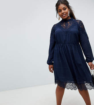 Junarose lace high neck boho dress