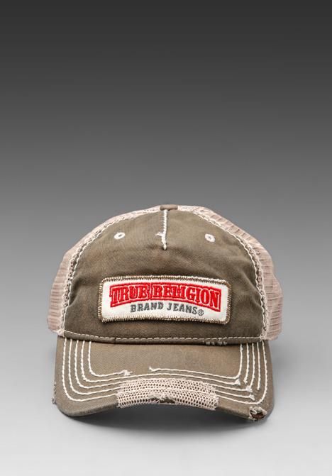 True Religion Twill Patch Cap