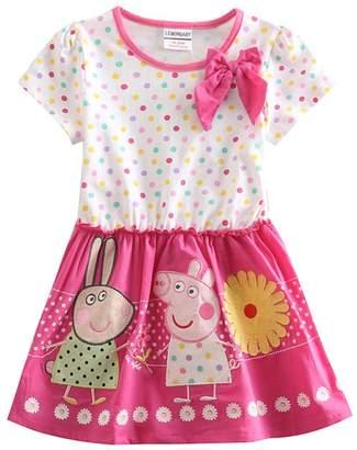 Peppa Pig LEMONBABY cartoon baby girls skirt cotton birthday dress (2Y, )