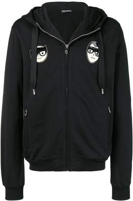 Dolce & Gabbana hooded patch jacket