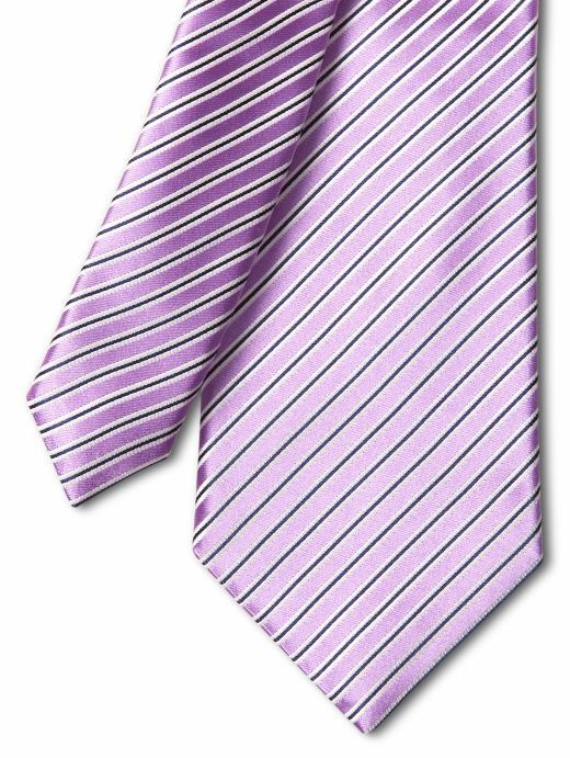Diagonal mini-frame stripe tie