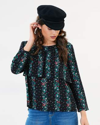 Sass Falling Florals Layered Blouse
