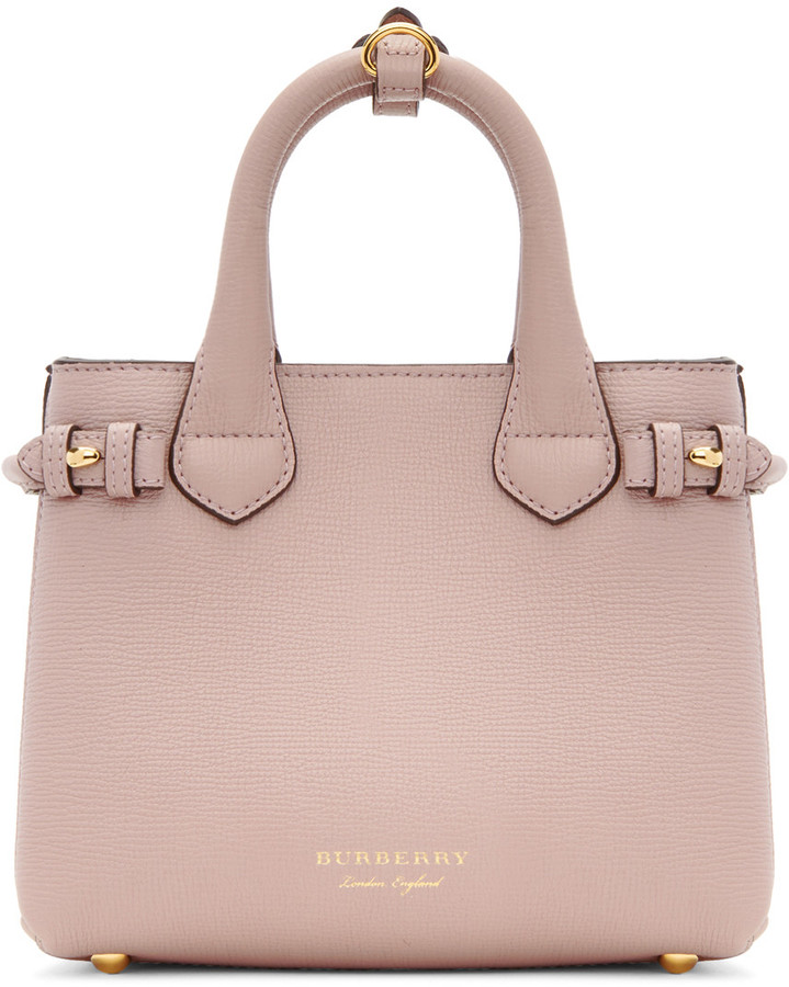 Burberry Pink Mini Banner Tote