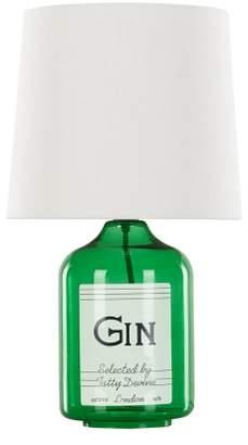 Tatty Devine Gin Bottle Table Lamp, Green