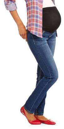 Zanadi Maternity Full Panel Skinny Jean Bling Back Pocket Cross