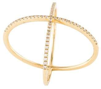 Ef Collection 14K Diamond X Ring