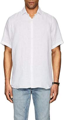 Piattelli MEN'S LINEN SHORT-SLEEVE SHIRT