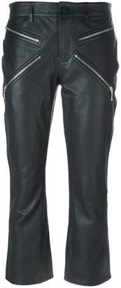 Alexander Wang cropped calf leather trousers