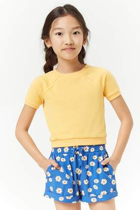 Forever 21 Girls Floral Print Shorts (Kids)