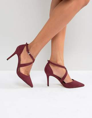 Carvela Cross Strap Pointed Heeled Shoe