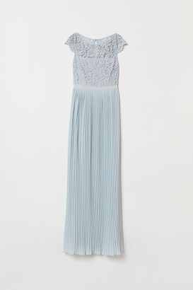 H&M Pleated Maxi Dress - Turquoise