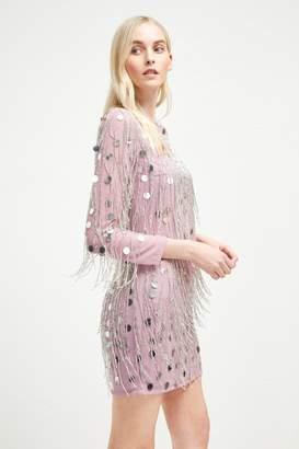 Fcus Baani Fringe Beaded Tunic Dress