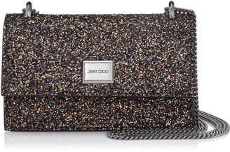 Jimmy Choo LENI Amethyst Mix Twinkle Glitter Fabric Mini Bag