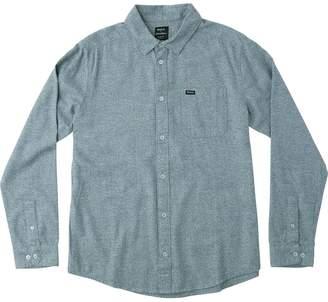 RVCA Curren Static Long-Sleeve Button-Down Shirt - Men's
