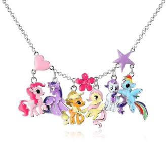 My Little Pony Girls' Fine Silver-Plated Group Necklace