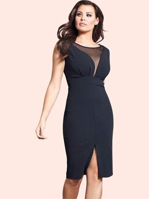 Jessica Wright Amallia Mesh Panel Midi Dress
