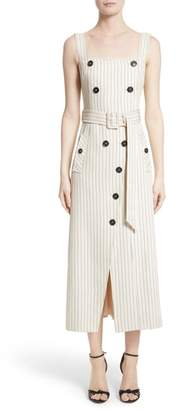 Altuzarra Audrey Button Detail Pinstripe Dress