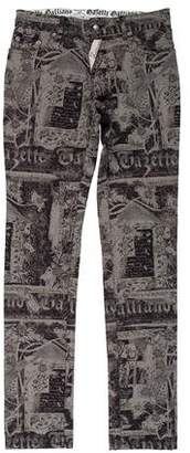 John Galliano Printed Slim Jeans