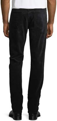 Tom Ford 5-Pocket Straight-Leg Corduroy Pants, Worn Charcoal