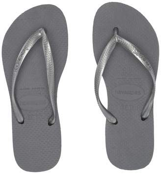 Havaianas Slim Kids Slip-On Thong Strap Sandals, Sand Grey/Light Golden, 31-32 BR/1-2 M US Little Kid