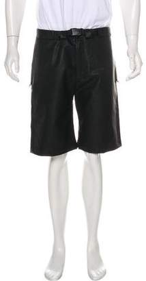 Patrik Ervell Flat Front Coated Shorts