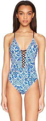 Nanette Lepore Women's Talavera Goddess One Piece Swim Suit