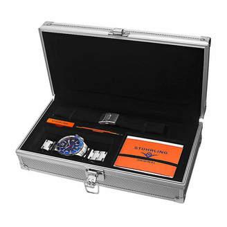 Stuhrling Original Mens Silver Tone Bracelet Watch-Sp15125
