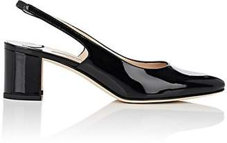 Manolo Blahnik Women's Allurasa Patent Leather Slingback Pumps - Black Patent