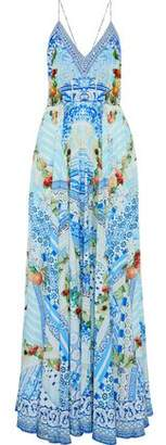 Camilla A Night To Remember Crystal-Embellished Printed Silk Maxi Dress