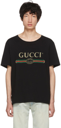 802a613123e Gucci Black Men s Shirts - ShopStyle