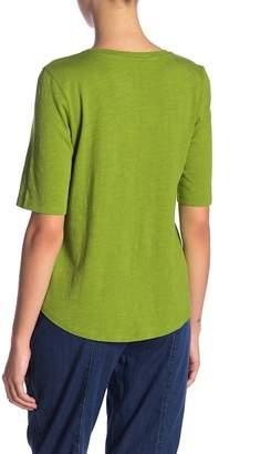 Eileen Fisher Short Sleeve Solid Tee (Petite)
