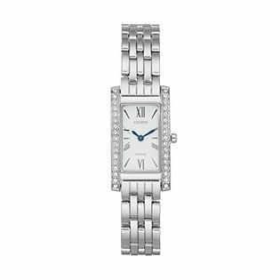 CitizenCitizen Eco-Drive Women's Silhouette Crystal Stainless Steel Watch - EX1470-51A