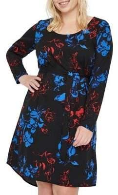 Junarose Plus Ewa Keenan Floral-Print A-Line Dress