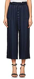 Raquel Allegra Women's Charmeuse Drawstring-Waist Pants - Midnight