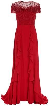 Escada Glessiva Embellished Gown