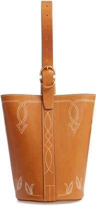 TRADEMARK Small Western Leather Bucket Bag