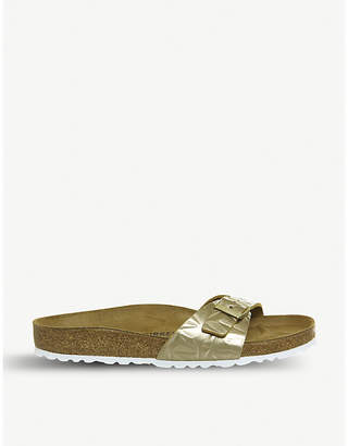 Birkenstock Madrid 1 Bar metallic-leather sandals