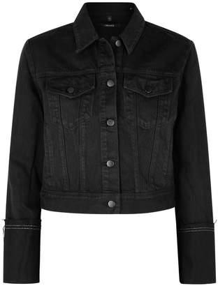 J Brand Harlow Black Cropped Denim Jacket