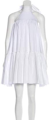 Caroline Constas Ruffled Halter Dress