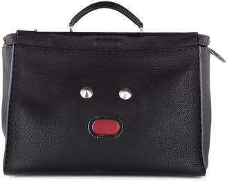 Fendi men's leather bag handbag cross-body messenger peekaboo leather roma bla b