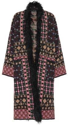 Etro Faux fur-trimmed coat