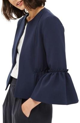 Women's Topshop Raw Ruffle Crop Jacket $85 thestylecure.com