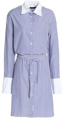 Cheap Pre Order Sale New Arrival Rag & Bone Woman Striped Cotton And Silk-blend Poplin Shirt Dress Blue Size L Rag & Bone DO0Xpf3N
