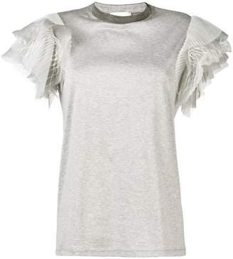 Fabiana Filippi ruffle sleeves T-shirt