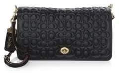 Coach Signature Embossed Leather Crossbody Bag