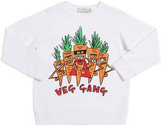 Stella McCartney Veg Gang Printed Cotton Sweatshirt